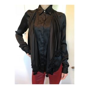 Black Silk Opening Ceremony Blouse